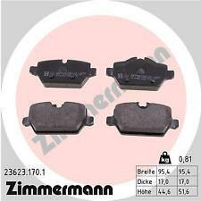 Rear Brake Pads 4Cyl 34216788183 BMW E87 E90 320i Zimmermann