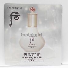 The History of WHOO Whitening Sun BB 25pcs SPF45 PA+++ Belmish Blam 2020 New