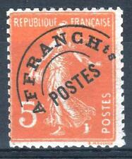 "FRANCE STAMP TIMBRE PREOBLITERE 50 "" SEMEUSE 5c ORANGE "" NEUF xx TB P089"