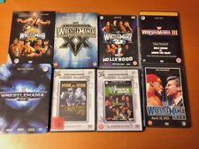 WWE WWF DVD RC 2 Wrestlemania 18, 19, 20 uva nwo Wrestling lot Hogan Taker Tin