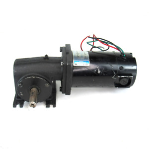 Leeson M1135039.00 Right Angle Permanent Magnet DC Gearmotor, 90V, 1.4 Amp, 1/8