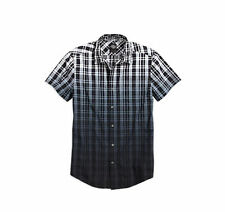 Plaid Collared Short Sleeve Casual Shirts & Tops for Men