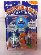 FUTURAMA Oficial Metal Coleccionable Set de figuras Rocket USA 2001