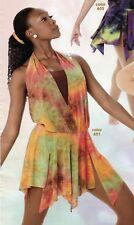 Lyrical Contemporary Dance costume Earthtones tiedye small adult flyer skirt