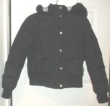 Womens LEI Puffer COAT~size SMALL~Faux Fur Hood~Hooded Insulated Winter Jacket