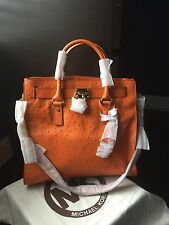 MICHAEL Michael Kors Large Hamilton Ostrich-Embossed Tote--Tangerine ✨NEW✨