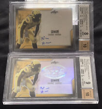 Najee Harris 2017 Leaf Army All American Gold Autograph #d 1/2, 2/2 Lot BGS Auto