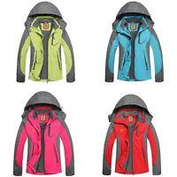 Women Hiking Softshell Jacket Waterproof Breathable Outdoor Camping Trekking