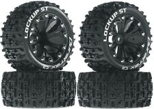 Duratrax Mounted Lockup ST Tires Wheels 4 2WD Stampede Rustler Jam Front Rear