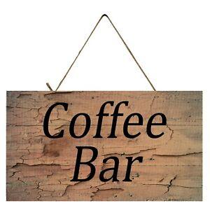Coffee Bar Wood Farmhouse Printed Handmade Wood Sign