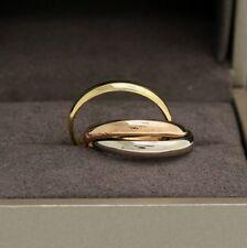 Les must de Cartier Trinity Tricolour 18KT Gold mit neutraler Box in Gr. 57
