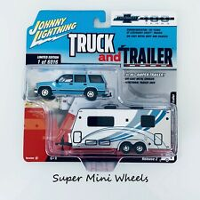 Johnny Lighting Truck and Trailer '97 Chevy Tahoe with Camper Trailer Release 2
