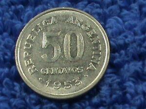 ARGENTINA    50 Centavos   1953  *