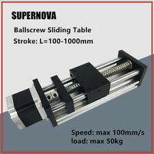 GGP Ball Screw Sliding Table Linear Motion Guide Rail + Nema 23 Stepper Motor