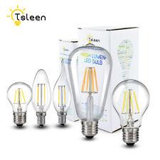 E27/E14/E12 Luces LED Regulable COB Bombilla de Edison Filamento De Vidrio Retro Lámparas 8/16W