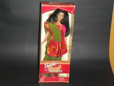 NIB Barbie in India Doll dressed in her saree with a bindi and jewelry