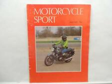 June 1980 Motorcycle Sport Magazine Ducati SD 900 Hesketh Lewis Leathers L12848