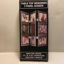 Table Top Memories 3 Panel Picture Screen - In Box - Never Used