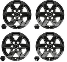 "17"" Black Wheel Skins Hubcaps + Center Caps (x4) FOR GMC Sierra Yukon Savana"