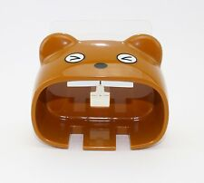 Super Cute Big Mouth Bear Style Toothbrush Holder Color Brown US Seller