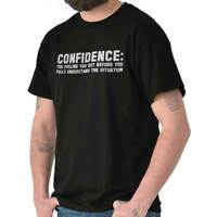 Confidence Fake Definition Sarcastic Humor Short Sleeve T-Shirt Tees Tshirts
