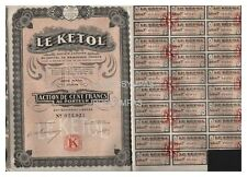 ACTION  100 FR LE KETOL  1926 ( réf  1)