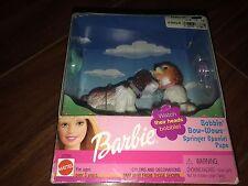 NIB BARBIE DOLL 2002 BOBBIN' BOW-WOWS SPRINGER SPANIEL PUPS DOGS PETS