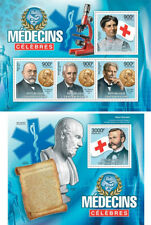 Red Cross Medicine Schwitzer Dunant Nobel Prize Central Africa MNH stamp set