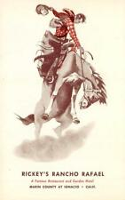 Ignacio, CA RICKEY'S RANCHO RAFAEL Marin County c1950s Cowboy Art Postcard