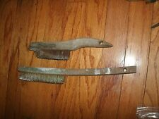 Lot of 2 Wire Brushes Steel with Wood Handles - Used