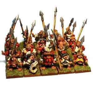State Troop Spearmen Unit with Command x20 28mm Unpainted Metal Wargames