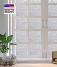 Decorative Privacy Window Film Anti-UV Static Window Cling (Mosaic)