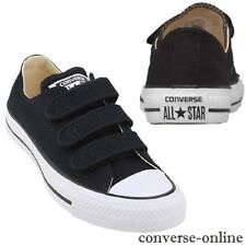 Para Hombre Converse All Star de mujer V3 Correa Ox Zapatillas Zapatos De Lona Negra Uk Size 8.5
