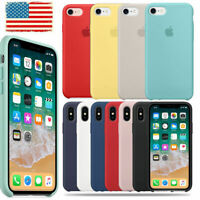 Genuine Original Silicone Case Cover Fit Apple iPhone X XR XS Max 7 8 6 6S+Plus