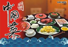 ORCARA Dollhouse Miniature Chinese Restaurant Meal Dinner re-ment size FULL SET