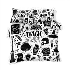 Black Magic Spell Skull Potion King Queen Twin Quilt Duvet Pillow Cover Bed Set