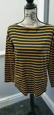 Ladies Jaeger Striped Jersey 3/4 Sleeved Top Size M (14/16) Brand New