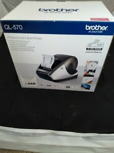 Brother QL-570 Thermal Label Printer + Power Adapter + USB cable + Label roll
