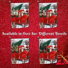 Christmas Santa Express Delivery Red Truck Garden flag, Dogs, Cats, Pet Decor