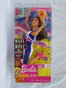 Barbie Made To Move jointed articulated Basketball Player Doll NEW