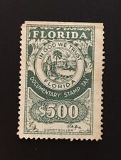 Florida State Revenue - Documentary Tax #D30 - $5.00 - green - used - FL