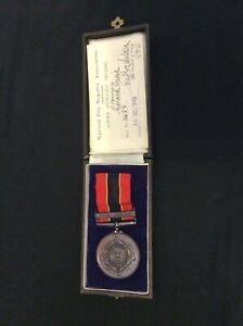 National Fire Brigade Long Service Medal 10.12.93 Saffron Walden Ten Years In Or
