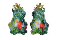 Pomme Pidou Salz & Pfeffer Streuer Frosch Theo Keramik türkis tropisch