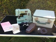 More details for rare vintage cresta zig zag sewing machine with box & accessories needs parts
