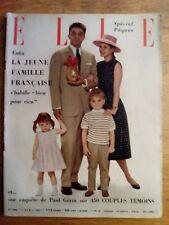 Elle N° 588 -  1er Avril 1957 - La jeune famille française