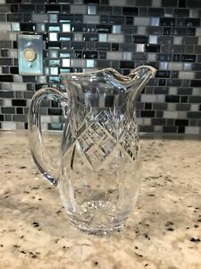 Waterford Ireland Crystal Martini / water Pitcher Jug 7.5 Inches Tall Barware