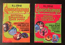 Goosebumps Official Collectors Caps Book & Holiday Collectors Cap Book R.L Stine