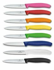 VICTORINOX Swiss Made 4 Inch Blade Kitchen Paring Knife - Straight With Point