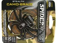 Spiderwire Camo Stealth Braid Superline 50 Lb 300 Yds Braided Fishing Line