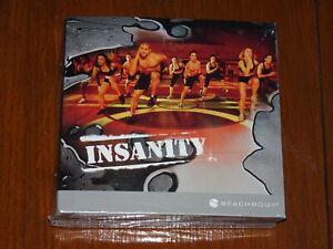 BEACHBODY INSANITY WORKOUT PROGRAM 10 DVD SET BRAND NEW FACTORY SEALED